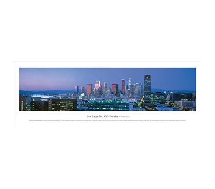 Los Angeles, California - Deep Blue Panorama