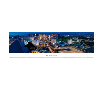 Las Vegas, Nevada - Twilight Panorama