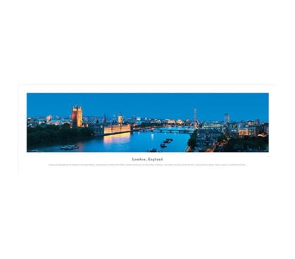 London, England - River Panorama
