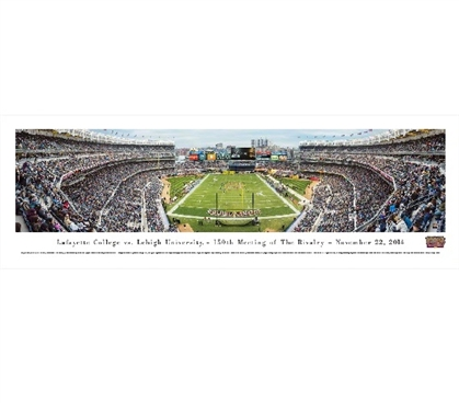 Lafayette College vs. Lehigh University - 150th Meeting of the Rivalry Panorama Dorm Wall Art Dorm Room Decor