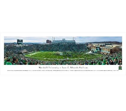 Marshall University - John C. Edwards Stadium Panorama Dorm Essentials Dorm Room Decorations
