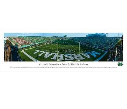 Marshall Thundering Herd - Joan C. Edwards Stadium Panorama Dorm Wall Art Dorm Room Decor