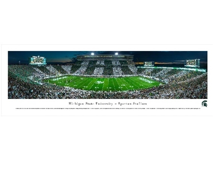 Michigan State Spartans - Spartan Stadium Panorama Must Have Dorm Items Dorm Room Decorations