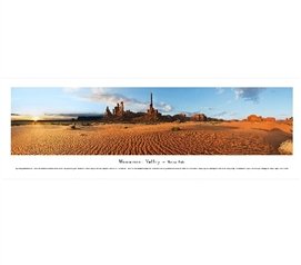 Monument Valley - Totem Pole Panorama Dorm Wall Art Dorm Essentials