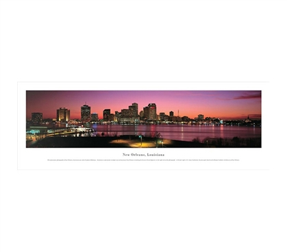 New Orleans, Louisiana - Twilight Panorama