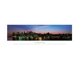 New York City, New York - Lights Panorama
