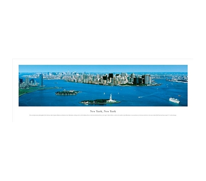 New York City, New York - Islands Panorama