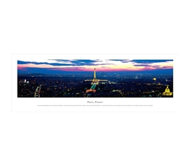 Paris, France - Twilight Panorama