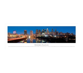 Philadelphia, Pennsylvania - Lights Panorama