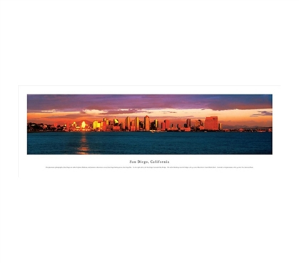 San Diego, California - Skyline Panorama