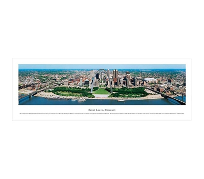 Saint Louis, Missouri - Aerial Panorama