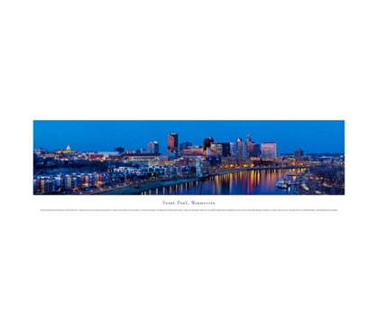 Saint Paul, Minnesota - Twilight Panorama