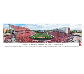 The University of Maryland - Byrd Stadium Panorama - Wall Decor For Dorms