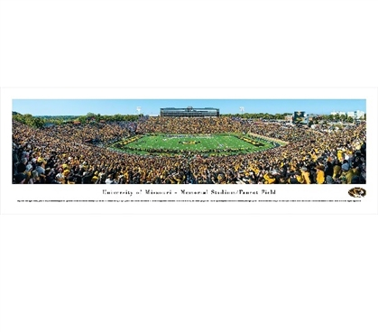 Dorm Wall Art Dorm Room Decorations University of Missouri - Memorial Stadium Panorama