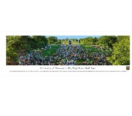University of Missouri - Thy Flame Shall Last Tiger Walk Panorama - Dorm Wall Decor