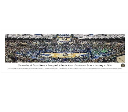 University of Notre Dame - Inaugural Atlantic Coast Conference Game Panorama Dorm Essentials Dorm Room Decor