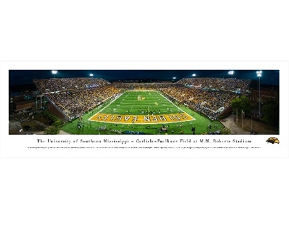 Southern Miss Golden Eagles - MM Roberts Stadium Panorama Dorm Room Decorations College Wall Decor
