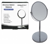 Bathroom Beauty Essential - Desktop Chrome Mirror - 3X Magnify - Double Sided