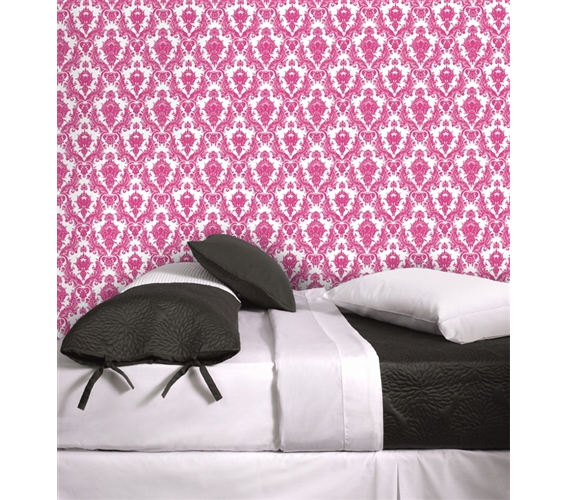 Damsel Fuchsia U0026 White Designer Removable Wallpaper Part 38