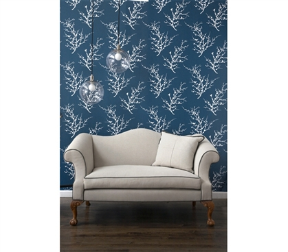 Edie Frosted Teal Tempaper Removable Wallpaper