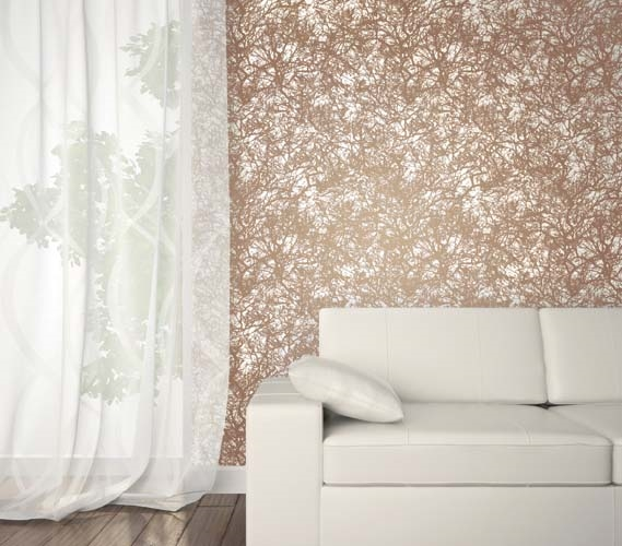 Forest Copper Designer Removable Wallpaper Part 24