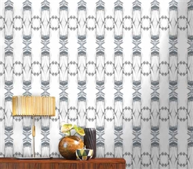 Cool Dorm Accessories - Kaleidoscope Zinc Designer Removable Wallpaper - Wall Decor For College