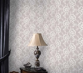 Dorm Essentials Lace Textured White Chocolate Designer Removable Wallpaper for Dorms College Supplies