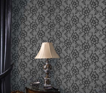 Dorm Essentials Lace Textured Smokey Black Designer Removable Dorm Room Wallpaper Dorm Room Decorations
