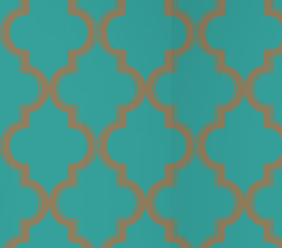 Marrakesh Honey Jade Designer Removable Wallpaper