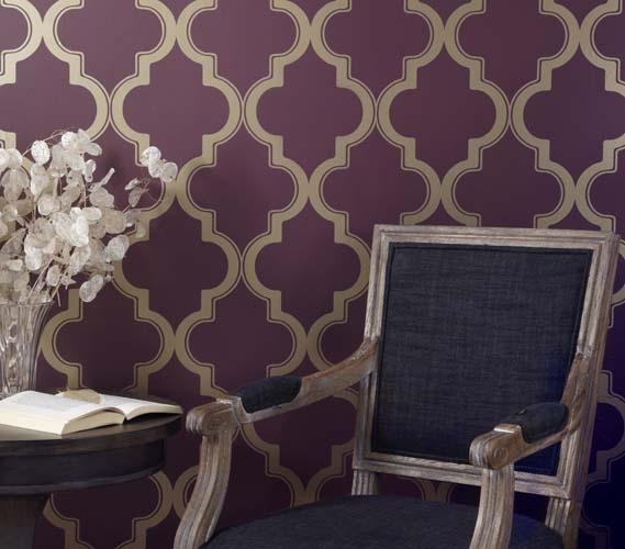 Marrakesh Merlot Designer Removable Dorm Room Wallpaper