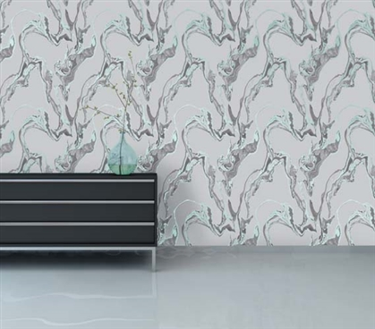 Marble Stream Designer Removable Dorm Room Wallpaper Dorm Room Decorations Dorm Essentials
