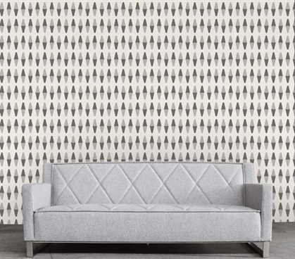 Retrogeo Grayscale Designer Removable Dorm Room Wallpaper Dorm Essentials Must Have Dorm Items