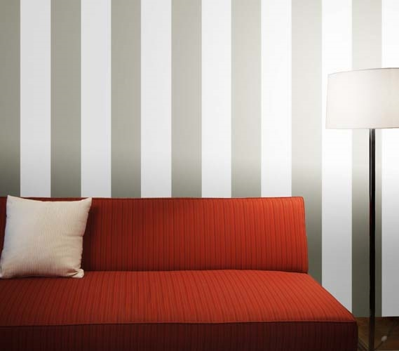 Add Cheap Dorm Decorations   Stripe Dove Gray Designer Removable Wallpaper    Decorate Your Dorm Part 95