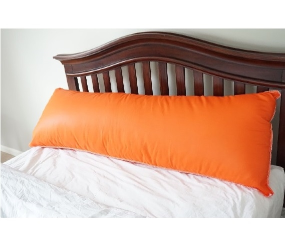 Dorm Bedding Body Pillow Orange