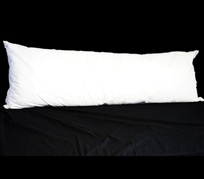 Dorm Bedding Body Pillow - White Dorm Necessities Twin XL Bedding Dorm Bedding