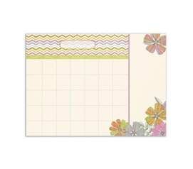 Dorm Organizer - Tropez Monthly Calendar - Peel N Stick - Dorm Accessories