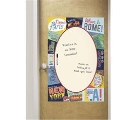 Dorm Decor - Giant Passport Decor - Peel N Stick - Dorm Supplies