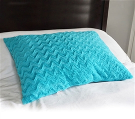 College Plush Jumbo Wide Body Pillow - Aqua Dorm Necessities College Supplies