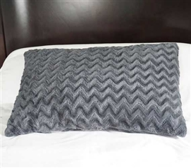 College Plush Jumbo Wide Body Pillow - Steel Gray Dorm Essentials College Supplies