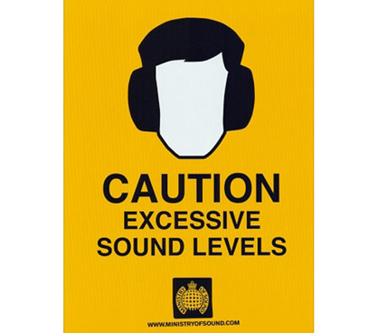 Cheap College Posters - Caution (Excessive Sound Levels) - Art Poster - Perfect Wall Decorations