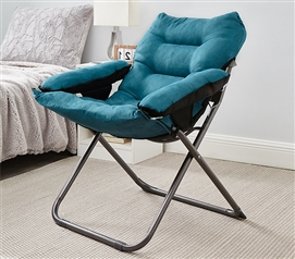 College Club Dorm Chair - Plush & Extra Tall - Teal Lake Blue