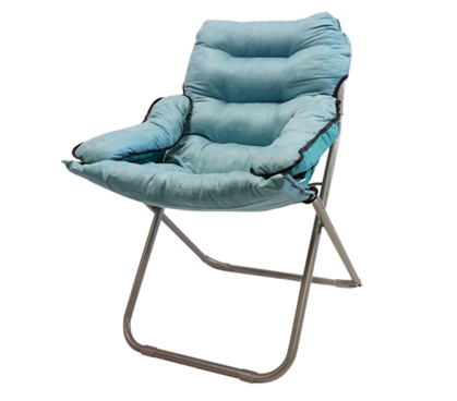 Comfy College Supply - College Club Dorm Chair - Plush & Extra Tall - Calm Aqua - Cool Dorm Seating