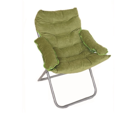 College Club Dorm Chair - Plush & Extra Tall - Green Dorm Essentials College Supplies