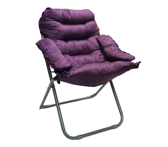 College Club Dorm Chair   Plush U0026 Extra Tall   Purple