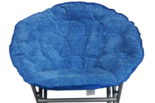 Comfy Corduroy Moon Chair Campus Blue Fold Able Chair