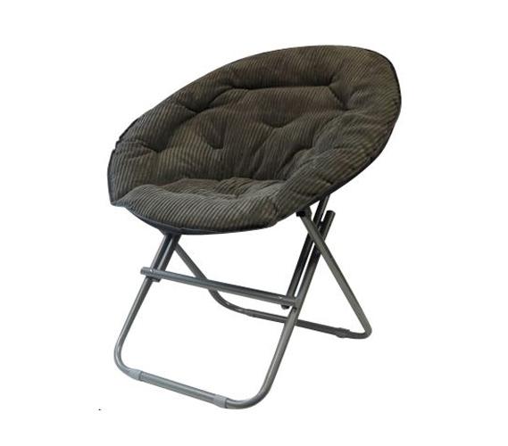 Comfy Corduroy Moon Chair Sage Gray
