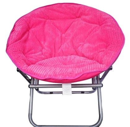 Comfy Corduroy Moon Chair - Neon Candy Pink College Dorm Seating ...