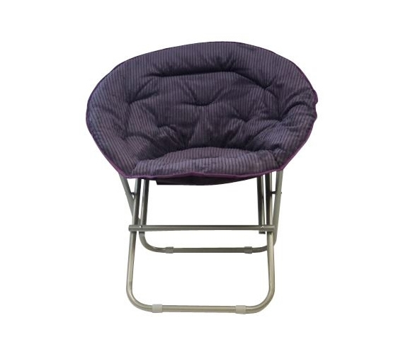 dorm essentials comfy corduroy moon chair uptown purple dorm seating