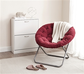 Comfort Padded Moon Chair - Burgundy