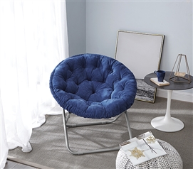 Comfort Padded Moon Chair - Navy